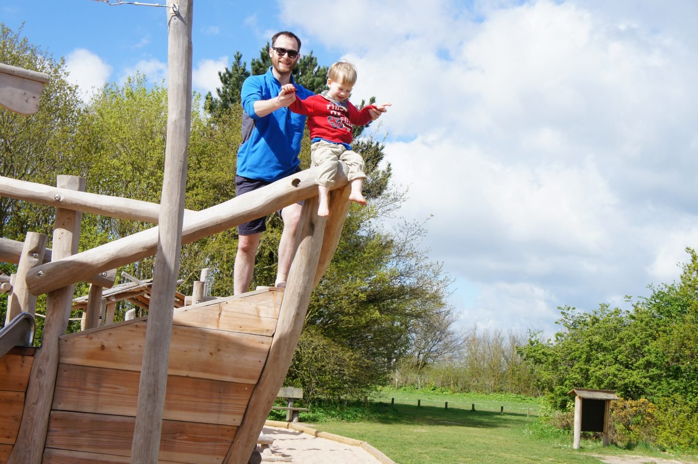 Ed and Nathan at Cudmore Grove country park