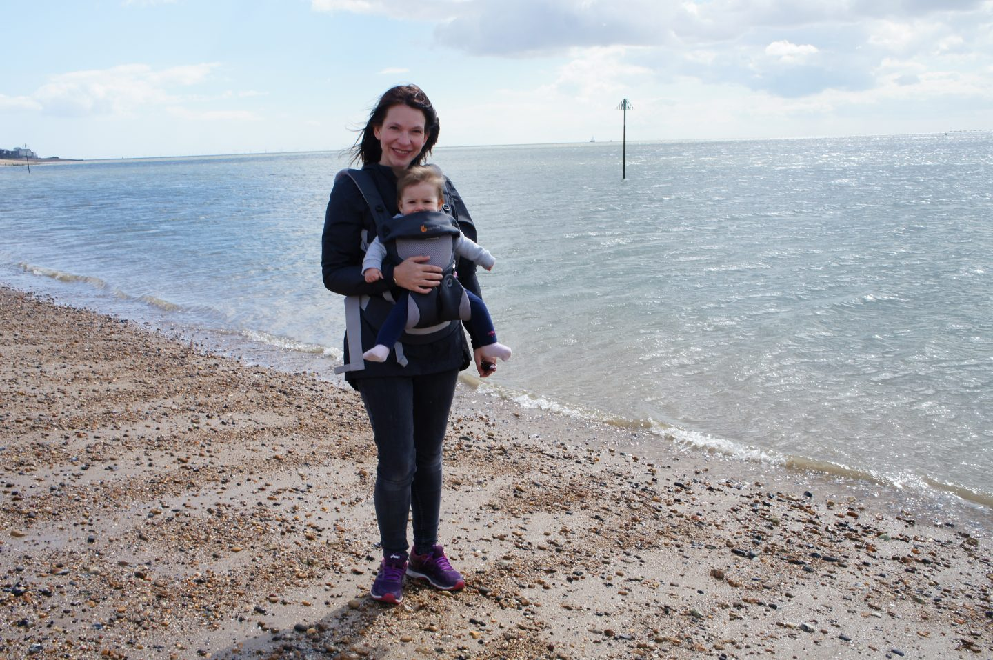 Miranda and I on West Mersea beach