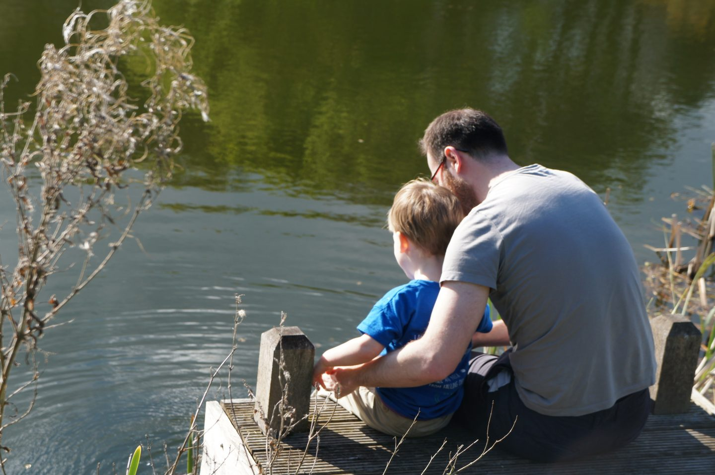 Ed and Nathan by the lake